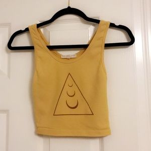 Yellow cropped tank top 💛